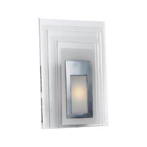 Elsa 5 Watt LED Square Wall Light in Chrome