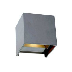 Flip 5 Watt Exterior LED Wall Light in Silver