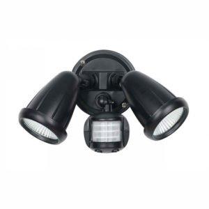 Illume 20 Watt Twin Exterior Spot in Black Light with Sensor