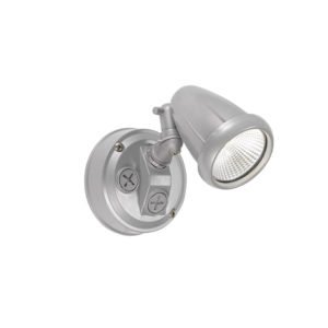 Illume 10 Watt Single Exterior Spot Light in Silver