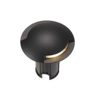 Luc IP65 12 Volt 2 x 3 Watt Warm White Inground Light in Black