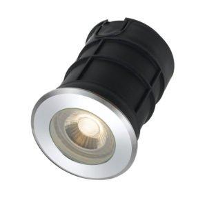 Luc IP65 12 Volt 3 Watt Warm White Inground Light in Aluminium