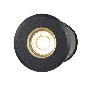 Luc IP65 12 Volt 5 Watt Warm White Inground Light in Black