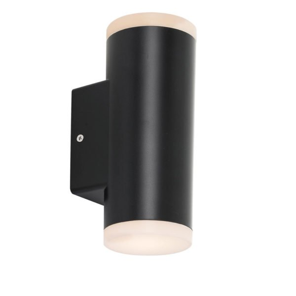 Ludek Up and Down Wall Light in Black