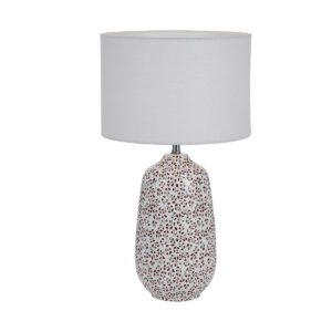 Miren Large Table Lamp in Red and White with White Shade