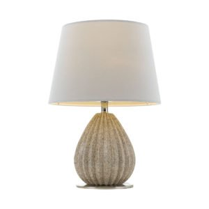 Orson Table Lamp In Cream with Vanilla Shade