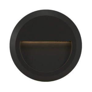 Prima IP65 1.5 Watt Round Exterior Light in Black