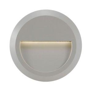 Prima IP65 1.5 Watt Round Exterior Light in Silver