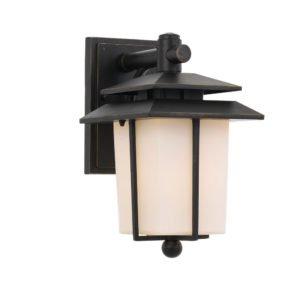 Silvan IP44 E27 Exterior Wall Light in Black
