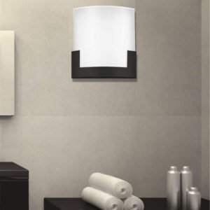 Solita 200mm 12 Watt CCT LED Dimmable Wall Light in Black