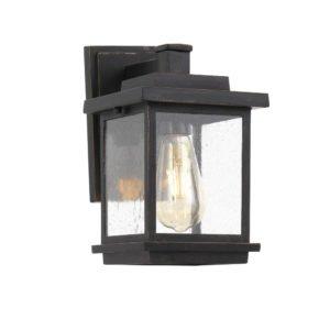 Strand IP44 E27 Exterior Wall Light in Black
