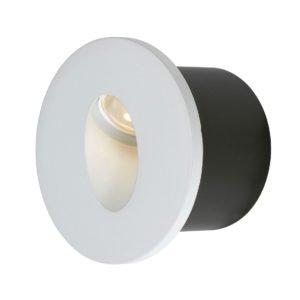 Snap 3 watt Cool White LED Round Stair Light in White
