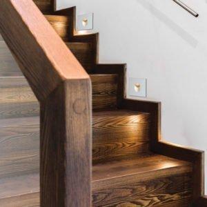 Snap 3 watt Cool White LED Square Stair Light in White