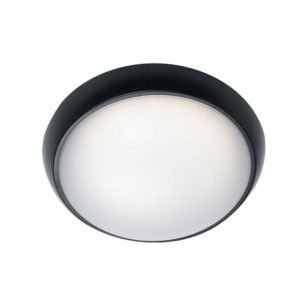 Wynn IP65 8 Watt LED Round Bunker Light in Black