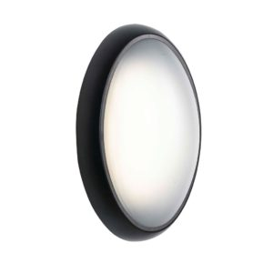 Andra IP65 8 Watt Cool White LED Oval Bunker in Black