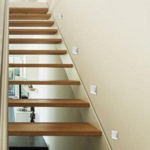 Brea 3 Watt LED Square Stair Light in White
