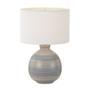 Carey Table Lamp in Blue with White Shade