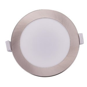 Kato 10 Watt LED CCT Recessed Downlight in Silver Frame