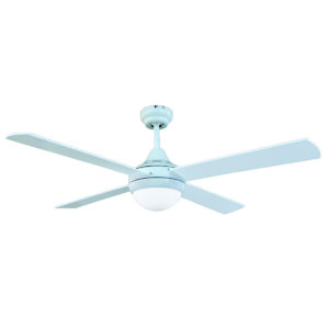 Tempo II 48'' Ceiling Fan with 2 x E27 Light in White with White Blades