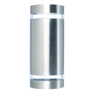 Dormon Curved Up/Down Wall Light in Stainless Steel