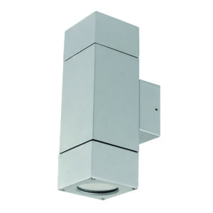 Prairie Block Up/Down Wall Light in Silver