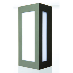 Eave Rectangular Edged Wall Light in Charcoal