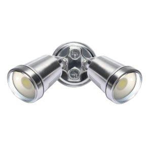 Hunter III 2 Light LED Floodlight in Satin Nickel