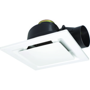 Sarico II Small 270mm Square Exhaust Fan in White