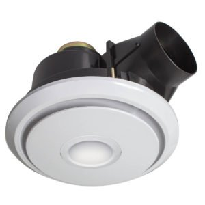 Boreal II Small 270Mm Round Exhaust Fan With CCT LED Light in White