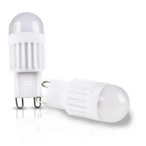 G9 Twin Pack 3W Warm White LED Frosted Globe