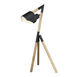 Kyoto 660mm Tripod Table Lamp in Black and Timber