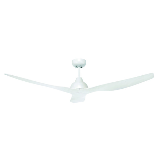 """Bahama 52"""" Ceiling Fan in White with White Finish Blades"""