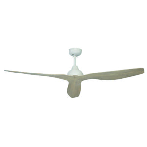 """Bahama 52"""" Ceiling Fan in White with Timber Finish Blades"""