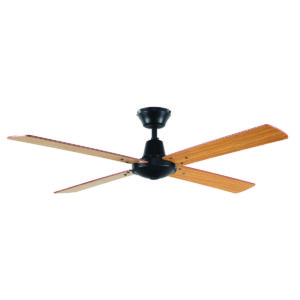 "Austin 48"" Ceiling Fan in Black with Maple Blades"