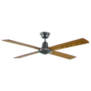"""Austin 48"""" Ceiling Fan in Metallic with Oak Blades"""