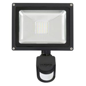 Avenger II 20W LED Flood Light With Sensor in Black