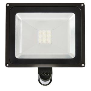 Avenger II 50W LED Flood Light with Sensor in Black