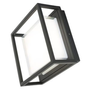 Bolton LED Square Wall Light in Black