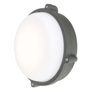 Delatite LED 10W Round Bunker in Charcoal