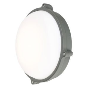 Delatite LED 20W Round Bunker in Charcoal