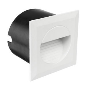 Lachlan Aluminium LED Square Step Light in White