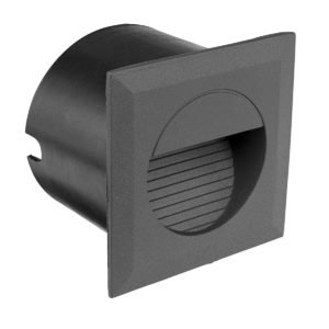 Lachlan Aluminium LED Square Step Light in Charcoal