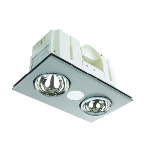 Horizon 2+1 Light 3-in-1 Bathroom Mate in Silver
