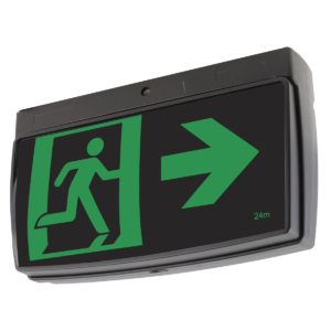 One-Box 2W Exit Sign in Black