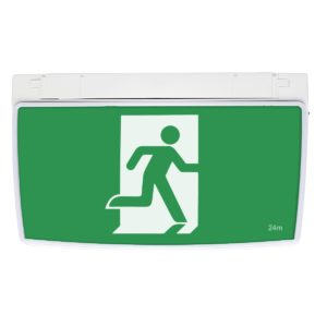 One-Box 2W Exit Sign in White