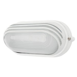 Essex LED Louvered Oval Bunker in White