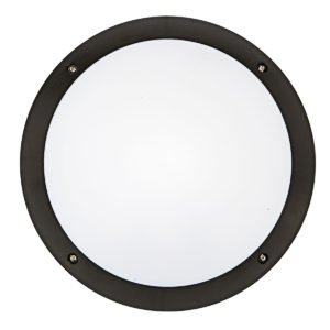 Hardy LED 12W Vandal in Proof Round Bunker in Black