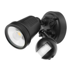 Hunter III 1 Light LED Floodlight with Sensor in Black