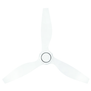 """Concorde II DC 58"""" Ceiling Fan in White with White Blades"""