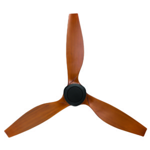 """Concorde II DC 58"""" Ceiling Fan in Black With Mahogany Blades"""